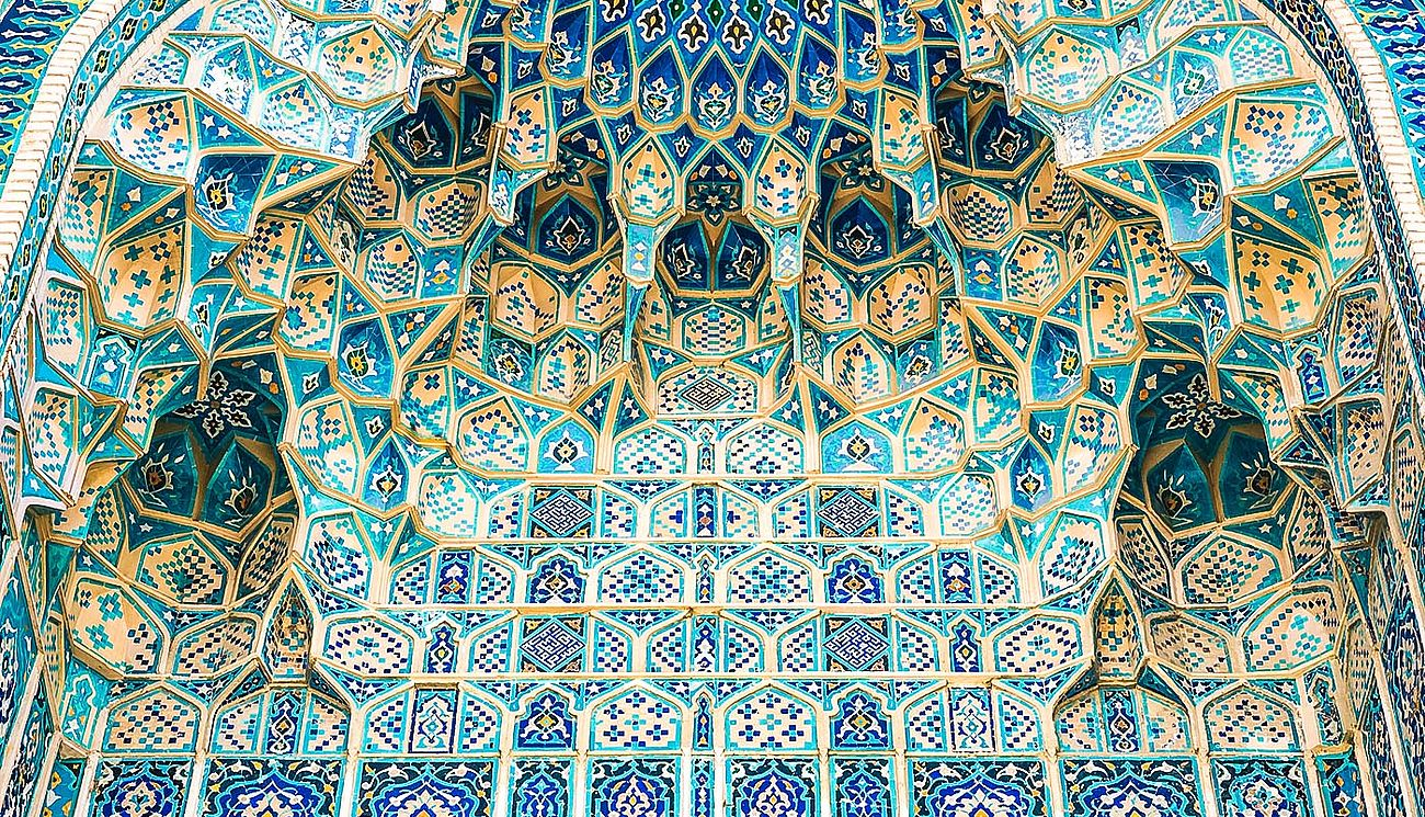 Architektur einer Medresse in Samarkand