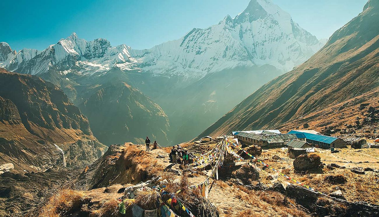 Annapurna Base Camp am Morgen