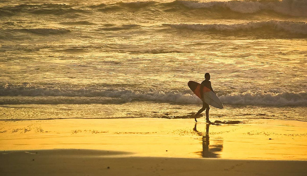 Surfen am Strand in Port Elizabeth