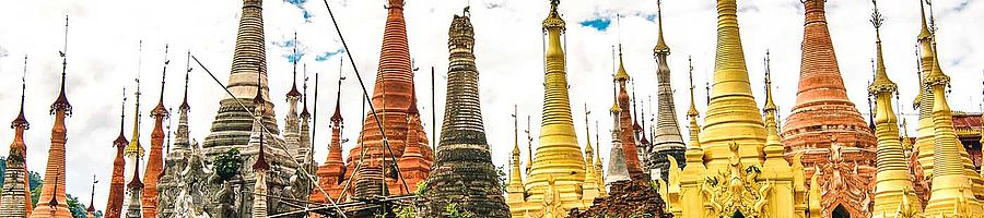 Shwe Indein Pagoden In Myanmar