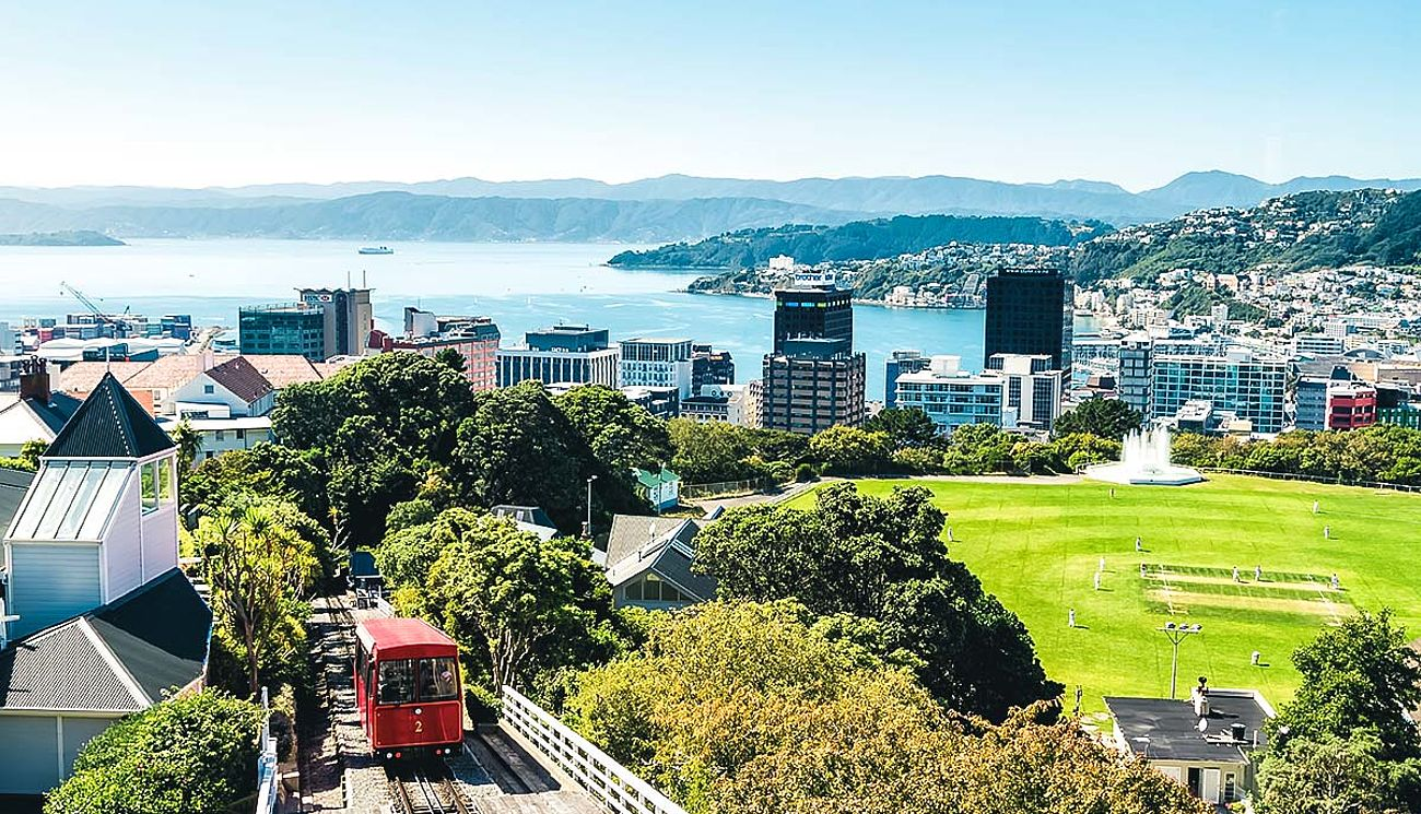 Standseilbahn in Wellington, Neuseeland