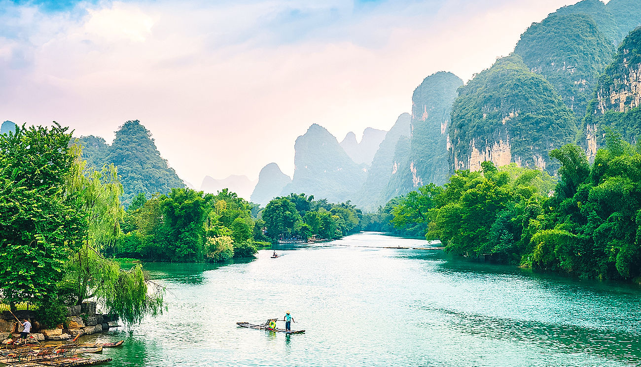 Fluss in Guilin, China