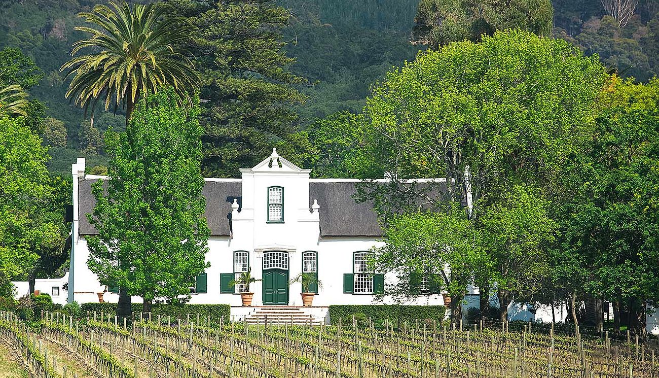 Haus im Cape Dutch Stil in den Cape Winelands